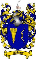 MALONEY FAMILY CREST - COAT OF ARMS