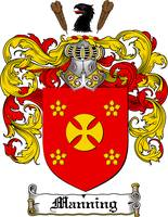 MANNING FAMILY CREST - COAT OF ARMS