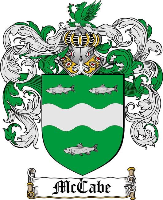 MCCABE FAMILY CREST - COAT OF ARMS. See this Artwork on:
