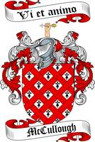 MCCULLOUGH FAMILY CREST - COAT OF ARMS