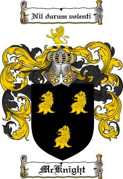 Mcknight Family Crest Coat Of Arms By Family Crest
