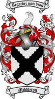 MIDDLETON FAMILY CREST - COAT OF ARMS