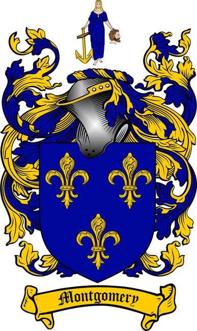 MONTGOMERY FAMILY CREST - COAT OF ARMS