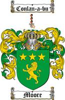 MOORE FAMILY CREST - COAT OF ARMS