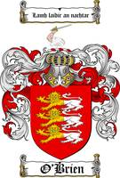 O'BRIEN FAMILY CREST - COAT OF ARMS