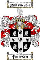 PETERSON FAMILY CREST - COAT OF ARMS