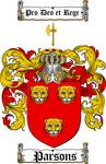 PARSONS FAMILY CREST - COAT OF ARMS