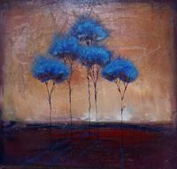 5 blue tree cluster by Kristen Stein