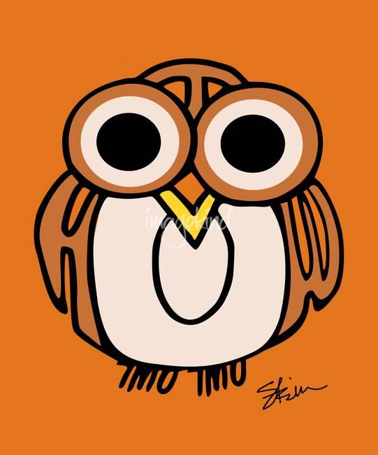 "Wide-Eyed Owl Says ""HOOT""!!"