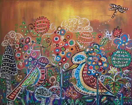 Enchanted Garden : 2 Whimsy Birds