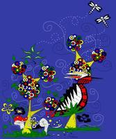 Big Bird in an Enchanted Garden by Kristen Stein
