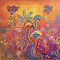 Enchanted Garden : 4 Birds by Kristen Stein