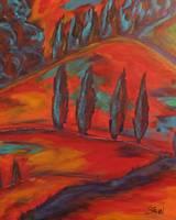 fauvist landscape by Kristen Stein