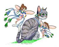 Dress Up Kitten and Fairies