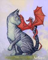 Hitchhiker Cat and Dragon Rider