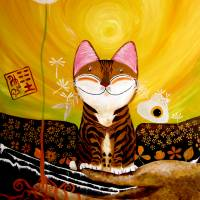 """""""cat-art-catmasutra-earth-5-elements"""" by catmasutra"""