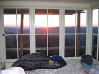 Pickette Bute Fire Lookout at sunset