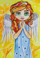 BIG EYE ANGEL BLYTHE DOLL ART GORDON BRUCE ART