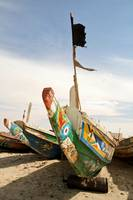 Mauritanian Boat and Flag