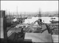 Broadway Basin, Oakland Harbor, viewing west c1900