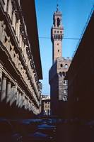 The Tower of Asinelli, Bologna, Italy, 1961 by Priscilla Turner