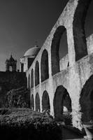 Mission San Jose: Arches and Dome Black and White