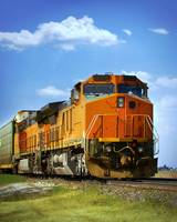 Orange Freight Train