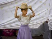 Child with Hat in Santa Fe