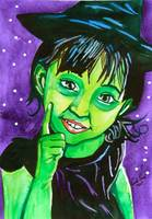 LITTLE WITCH WIZARD OF OZ PAINTING