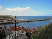 Whitby Harbour, From The 199 Steps   (15538-RDA)