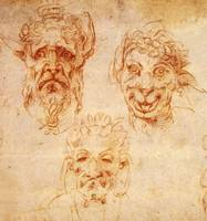 Studies of Grotesque Heads
