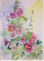 Hollyhocks at the Amanas