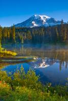 Rainier and Reflection Lakes