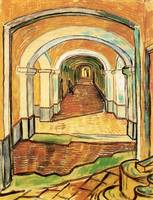 Corridor of Saint-Paul Asylum in Saint-Remy