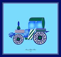 Blue Green Tractor