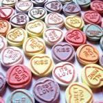 """Love Hearts Sweets - Valentines Day"" by ModernArtPrints"