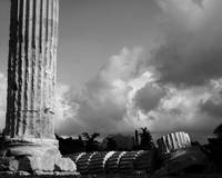 Temple of Olympian Zeus with Storm Clouds