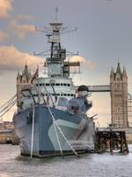HMS Belfast London Bridge hdr