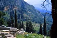 Fallen Stones in Springtime, Delphi, Greece 2003 by Priscilla Turner