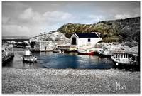 The tiny Harbour at Ballintoy, Co. Antrim.  Northe