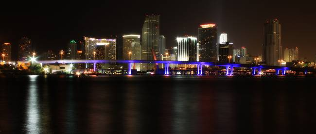 Miami Downtown Night