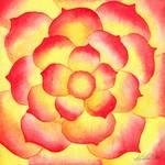Flame Tip Flower by Kristen Fox