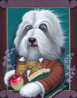 'Walt Woofman' -Bearded Collie