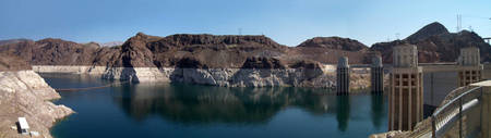Hoover Dam And Lake Mead 2008 Panorama