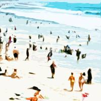 A Day at the Beach VI - Abstract Art Prints & Posters by Tom Hawkins