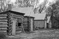 Civil War Winter Camp -Greyscale