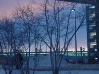 Winter Twilight at the Airport