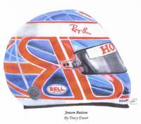 Button Helmet F1