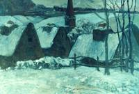 Breton Village in Snow