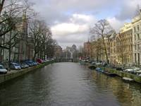 Amsterdam Canal in Spring